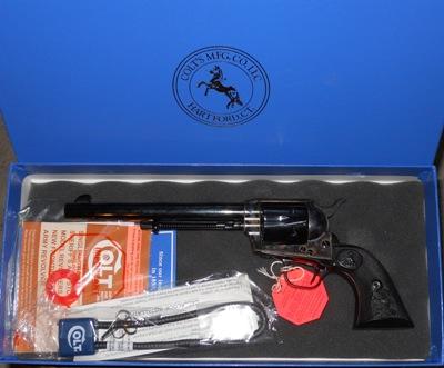"""Colt SAA Revolver, ANIB, Late 3rd Gen., .45 Long Colt, 7-1/2"""" Barrel"""